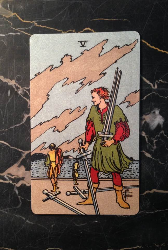 This card is from the Borderless edition of the Rider-Waite deck, from 1909.