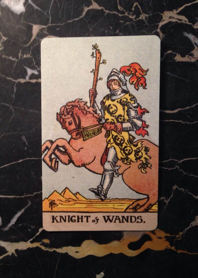 This card is from the Borderless edition of the Rider-Waite deck from 1909.
