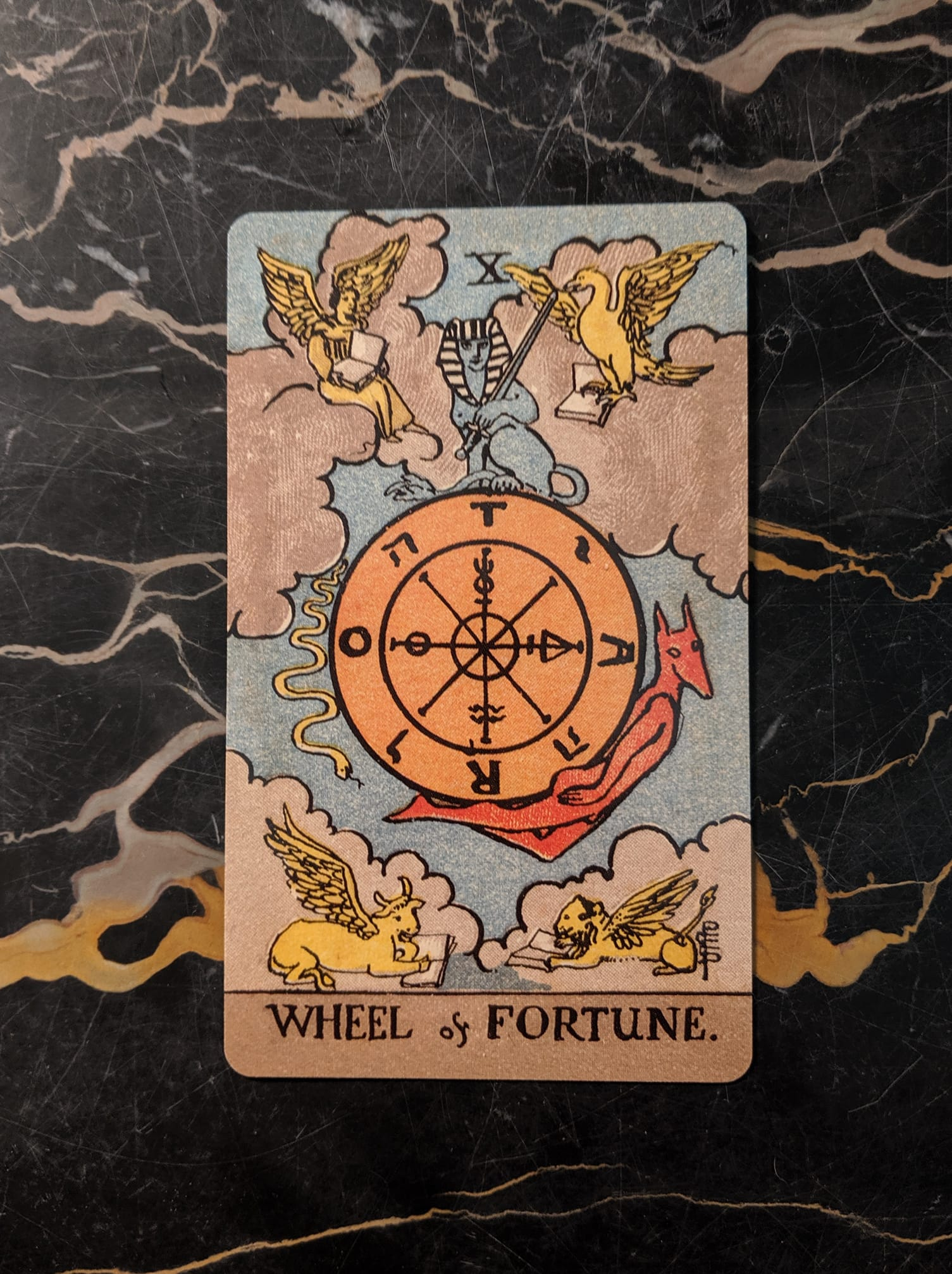 This card is from the Rider-Waite deck, borderless edition