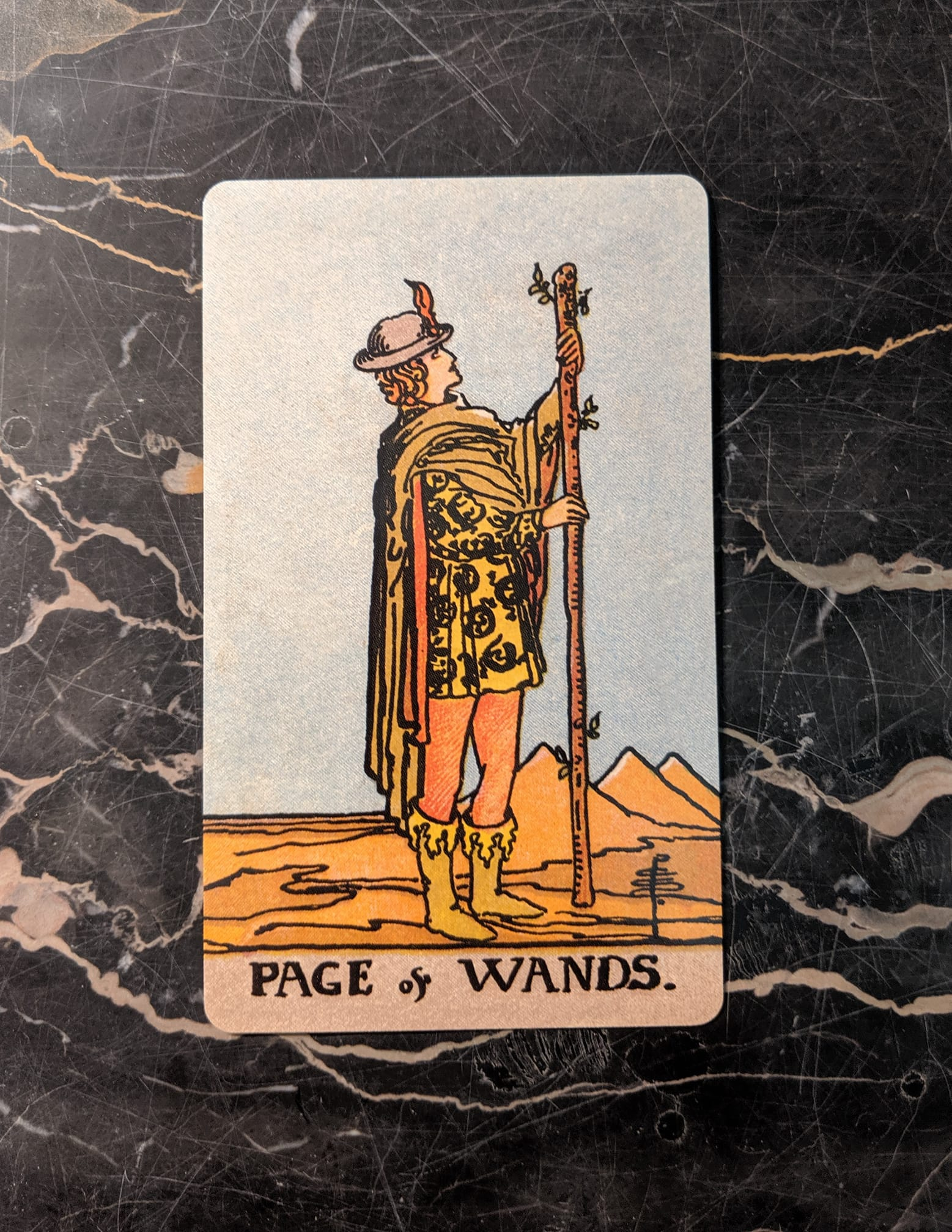 This card is from the Rider-Waite deck, borderless edition.