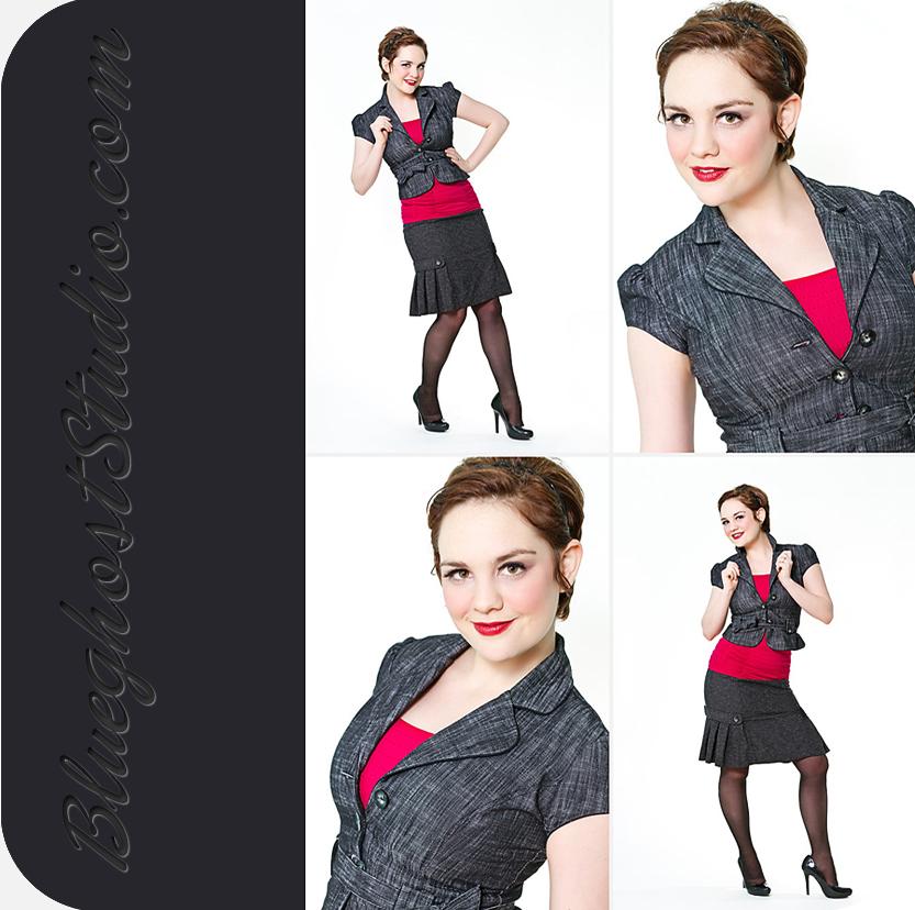 Denver fashion model comp card