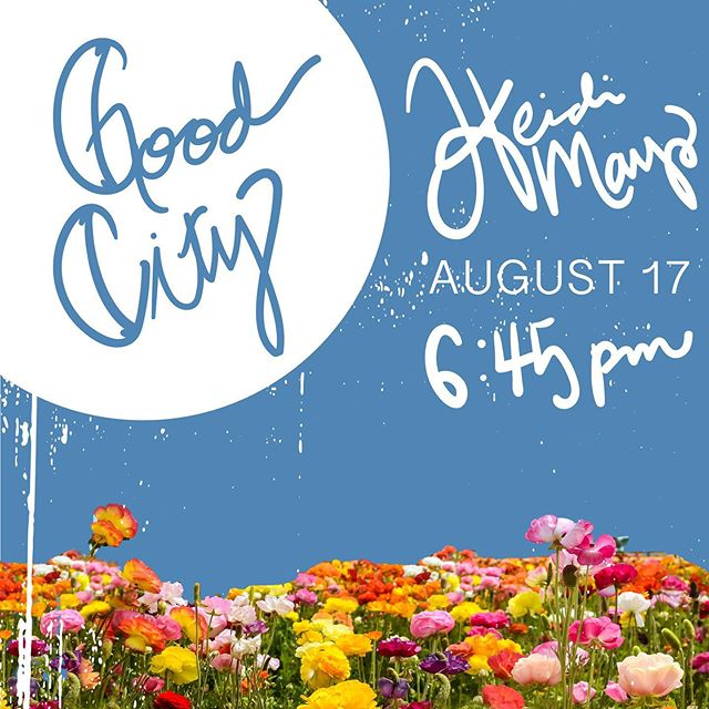 Hey hey hey! I'm so amped to bring some of my talented friends and really good coffee together. August 17th 6:45pm! p.s. Swipe to see Tam's rad little dude showing you the way to @goodcitycoffee