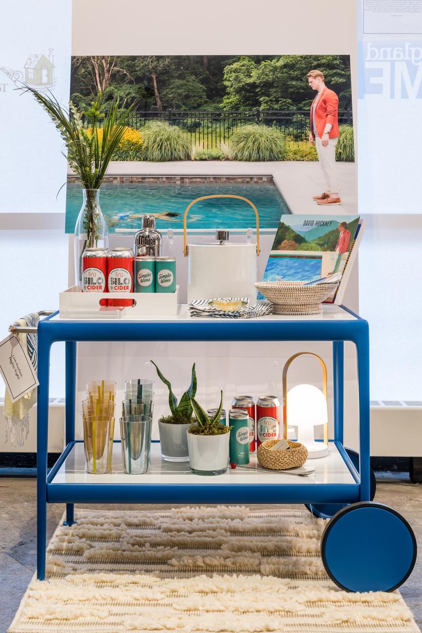 Hockney Tribute bar cart, Heading Home to Dinner 2019
