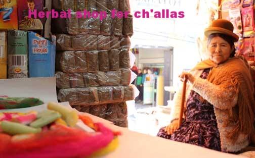 Medicine woman's shop for ch'allas.