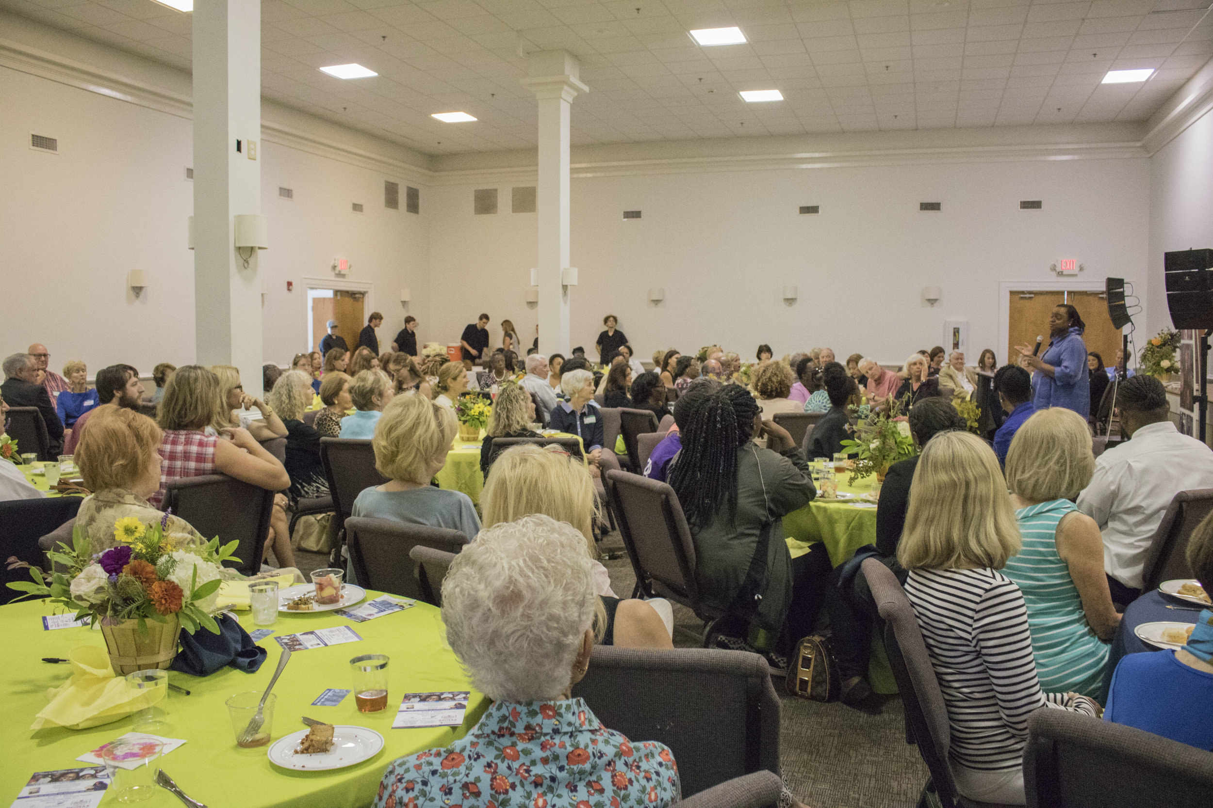 Liz Huntley shared her story to a full room at the event.
