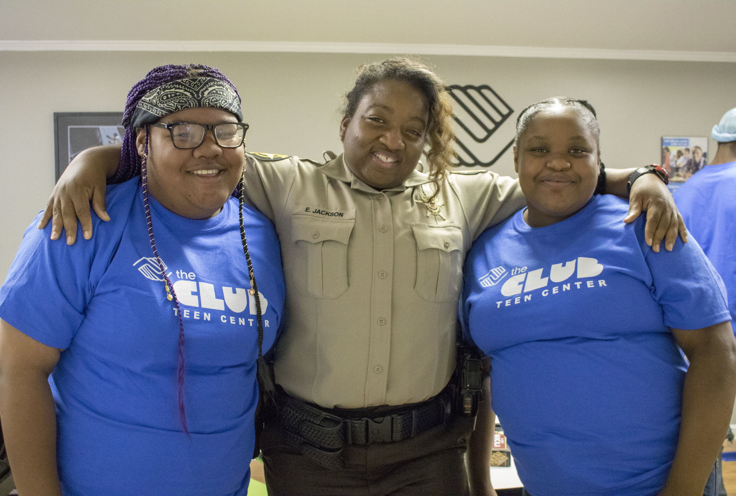 Newton County Sheriff Officers helped transport teens to the Club on our opening day.