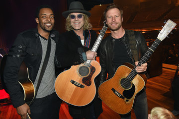 Damien Horne with recording artists Big Kenny and Dierks Bentley.