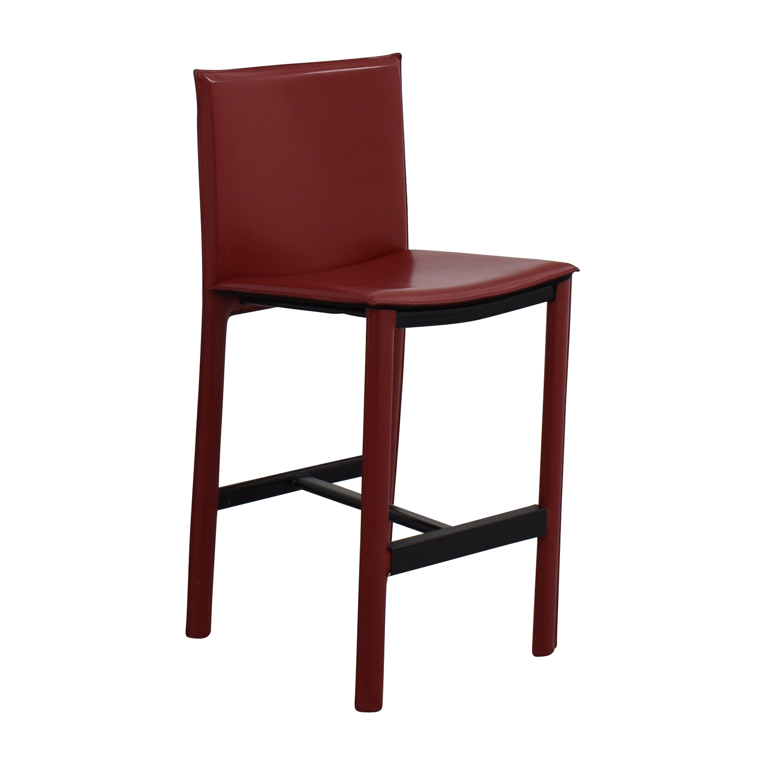 Red Leather High Chair ($10)