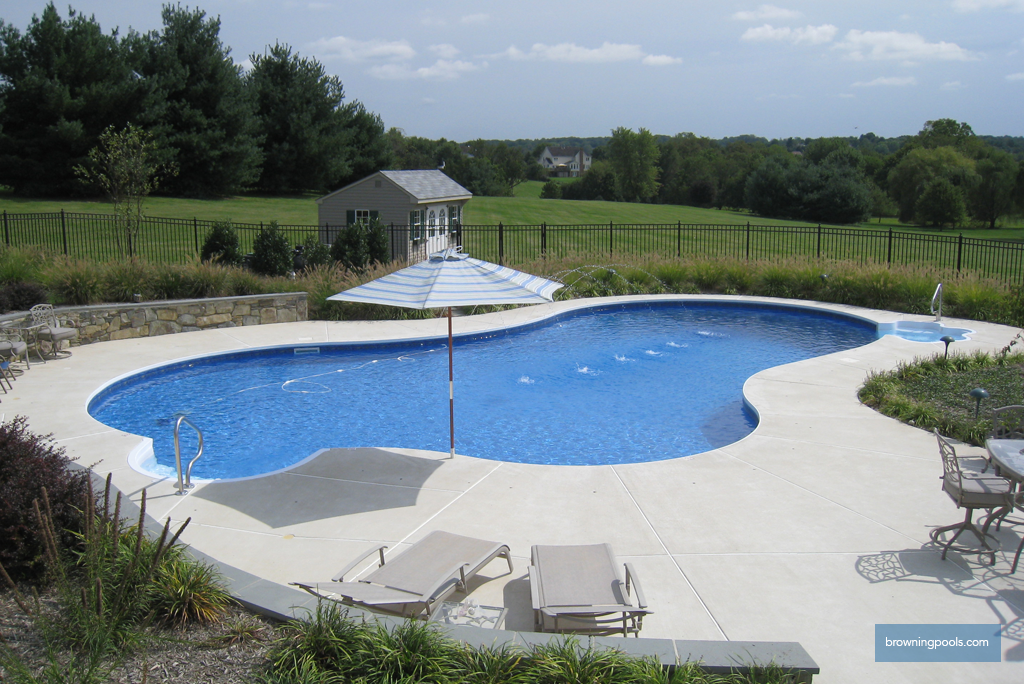 free form vinyl pools  Custom Vinyl Liner Pools | Browning Pools & Spas