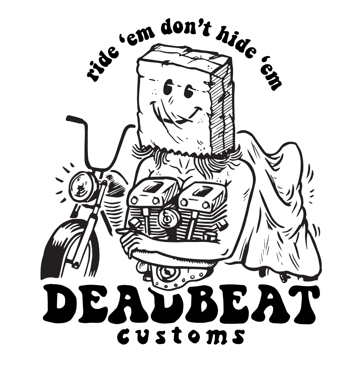 Deadbeat Customs SHirt Graphic