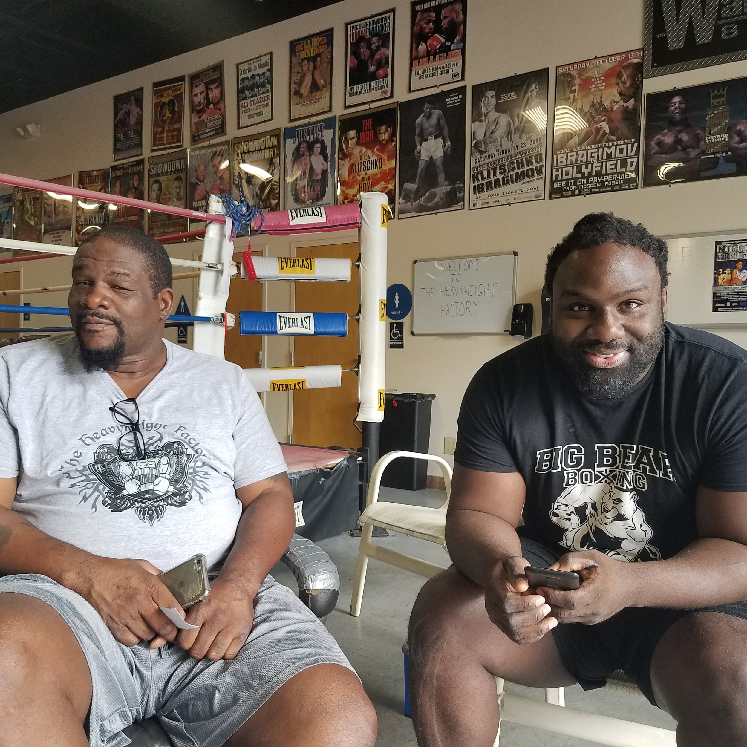 Brandon Spencer with Boxing champ Riddick Bowe