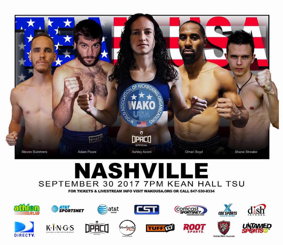 USA VS CANADA - 3 Greubel's Mixed Martial Arts kickboxing competitors, Adam Poore, Jamon Cooke, & Chris Richardson to fight on card in Nashville, TN that will be broadcast to 110 MILLION homes! For info and tix go to www.wakousa.org