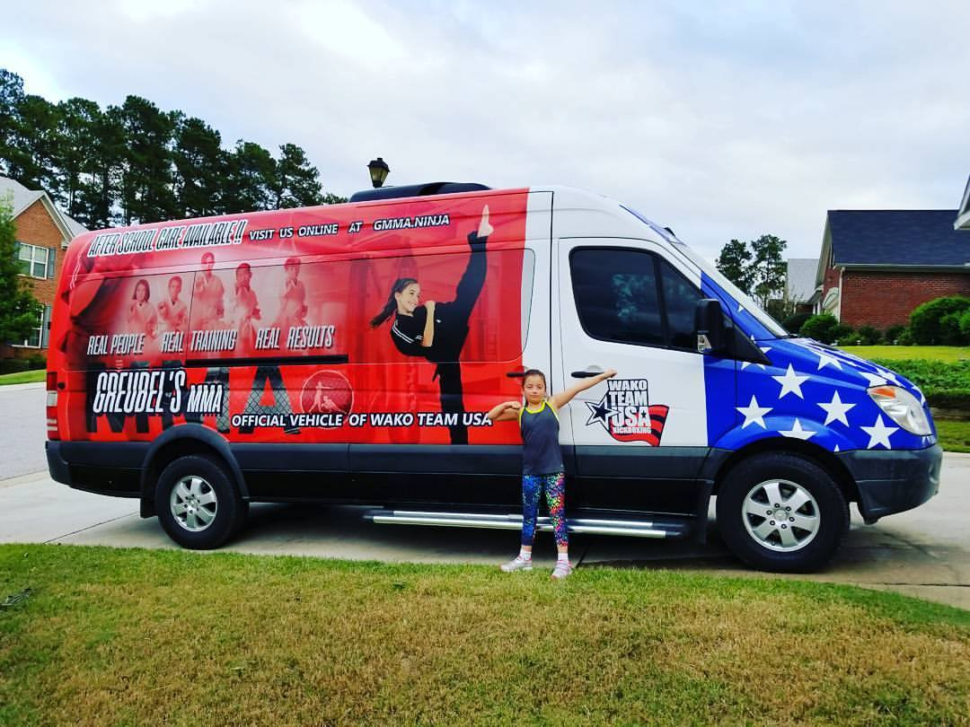 Martial Arts Summer Camp - Your children will ride safe in our Mercedes Sprinter team transport van!