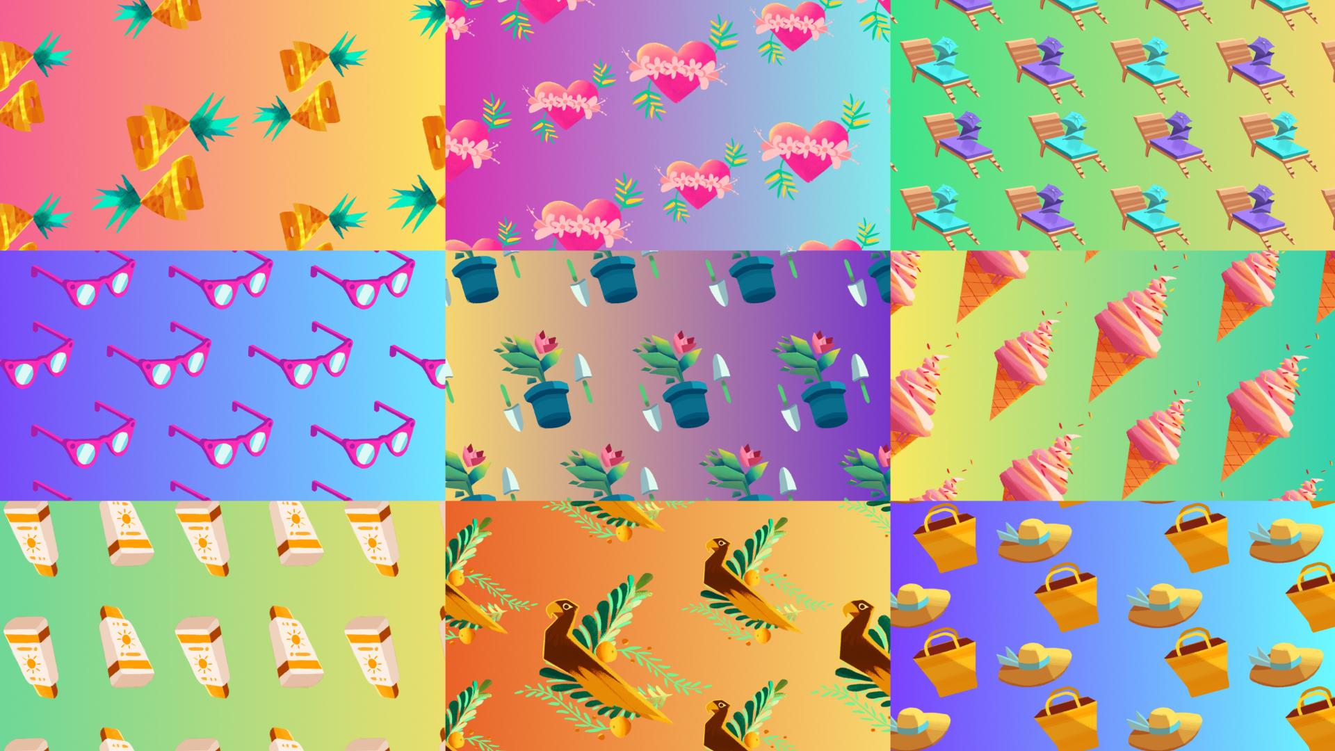 beeld discovery H&H verão design motion padrões