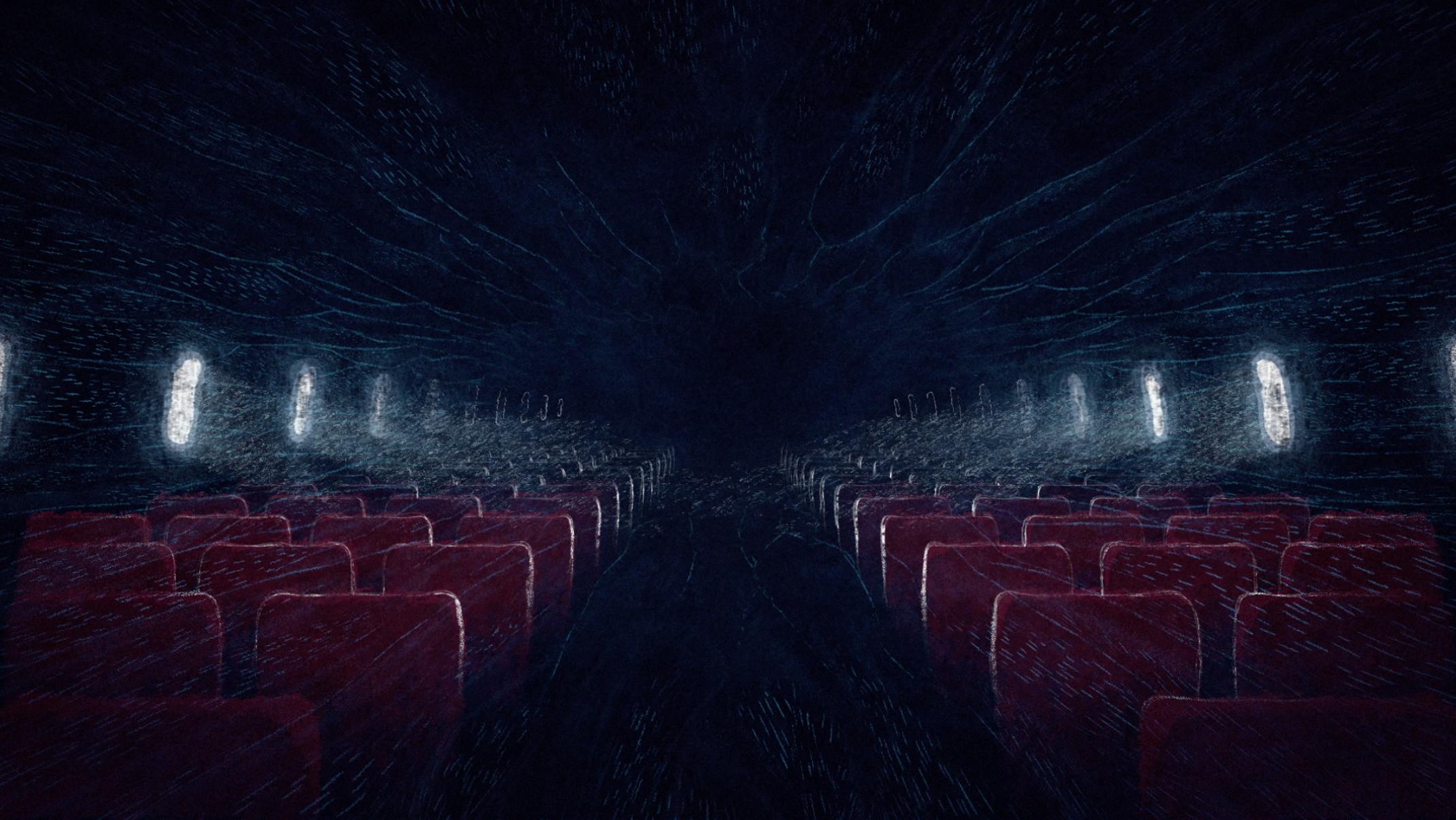 cinema seats and airplane windows for telecine promo direction beeld