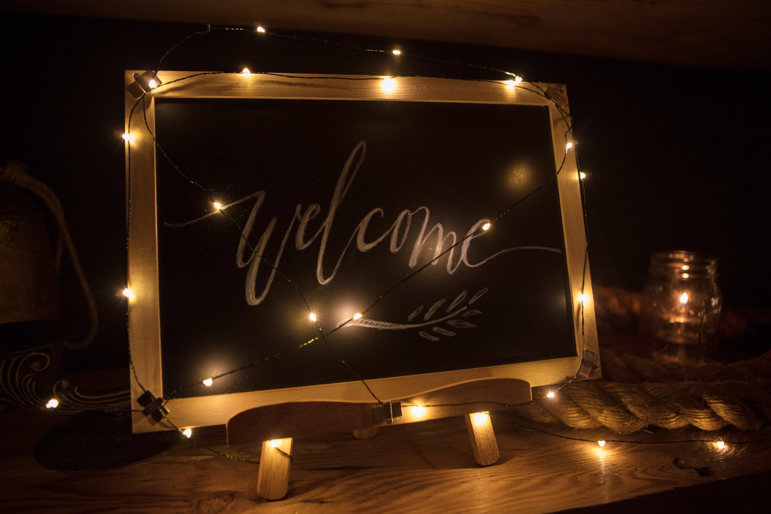 Custom chalk artwork and decor for Customer Appreciation Event at Belgard Kitchen