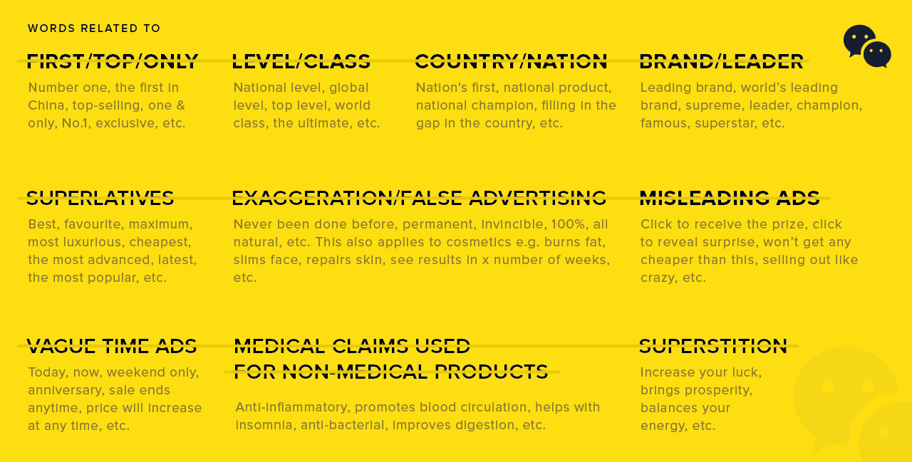 Banned Marketing Terms 2019