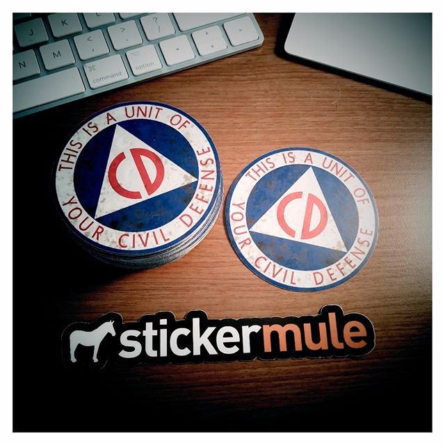 I'm ready to duck and cover thanks to @stickermule
