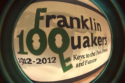 Created for Franklin's Centennial in 1912 as part of the Mural Program and on display in the front hall.