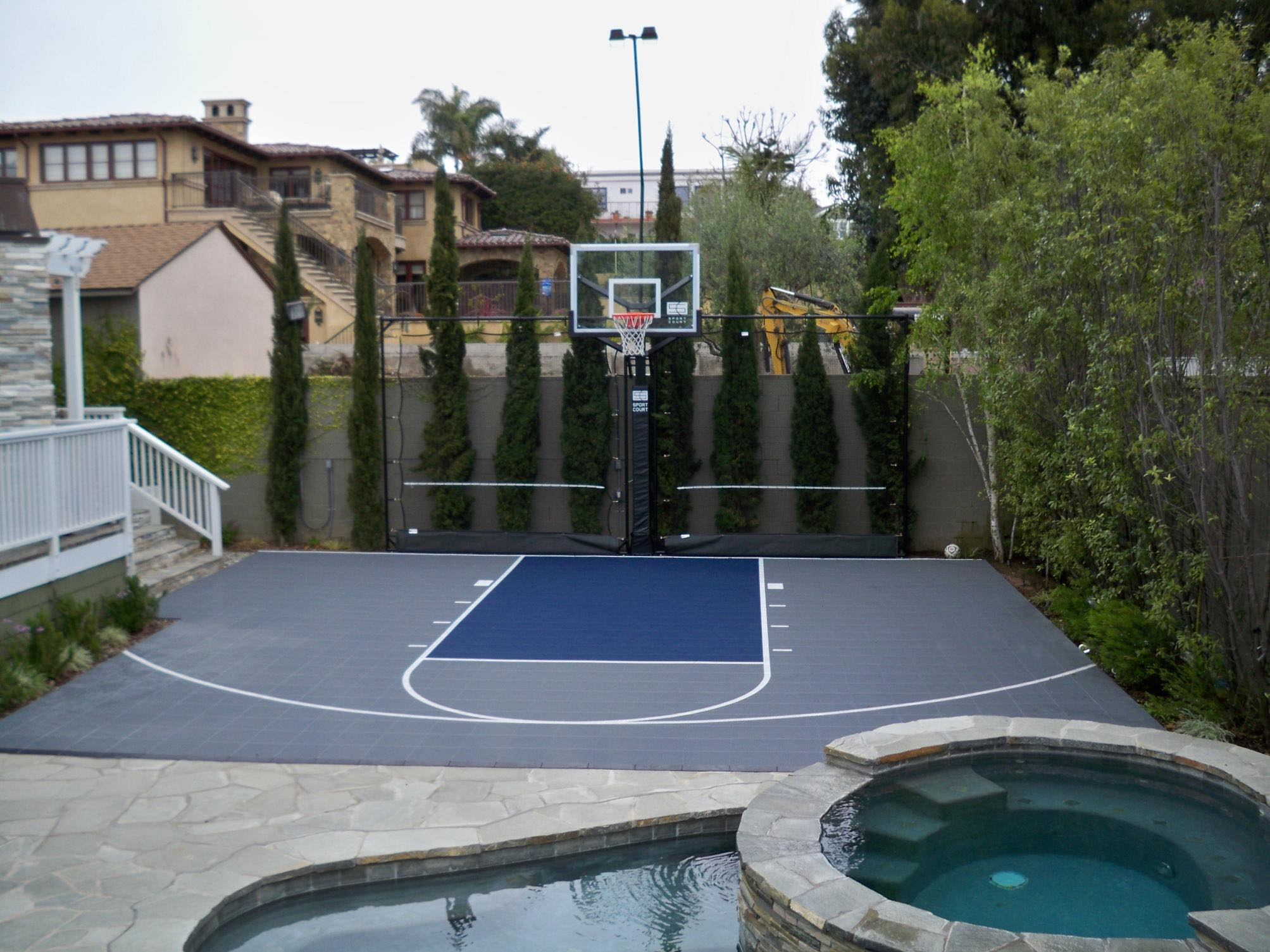Sport Court with hot tub