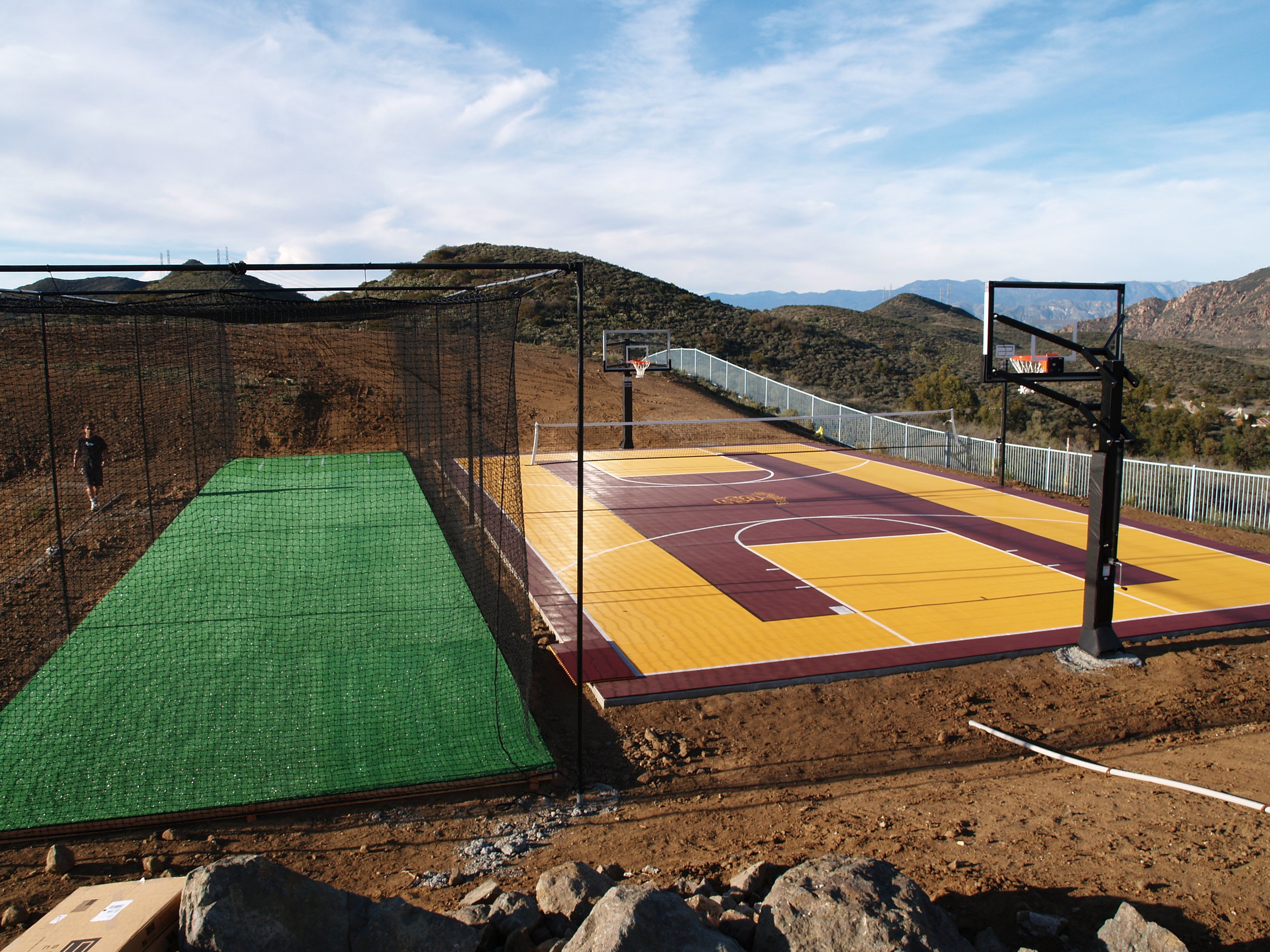 Synthetic grass batting cage by Sport Court