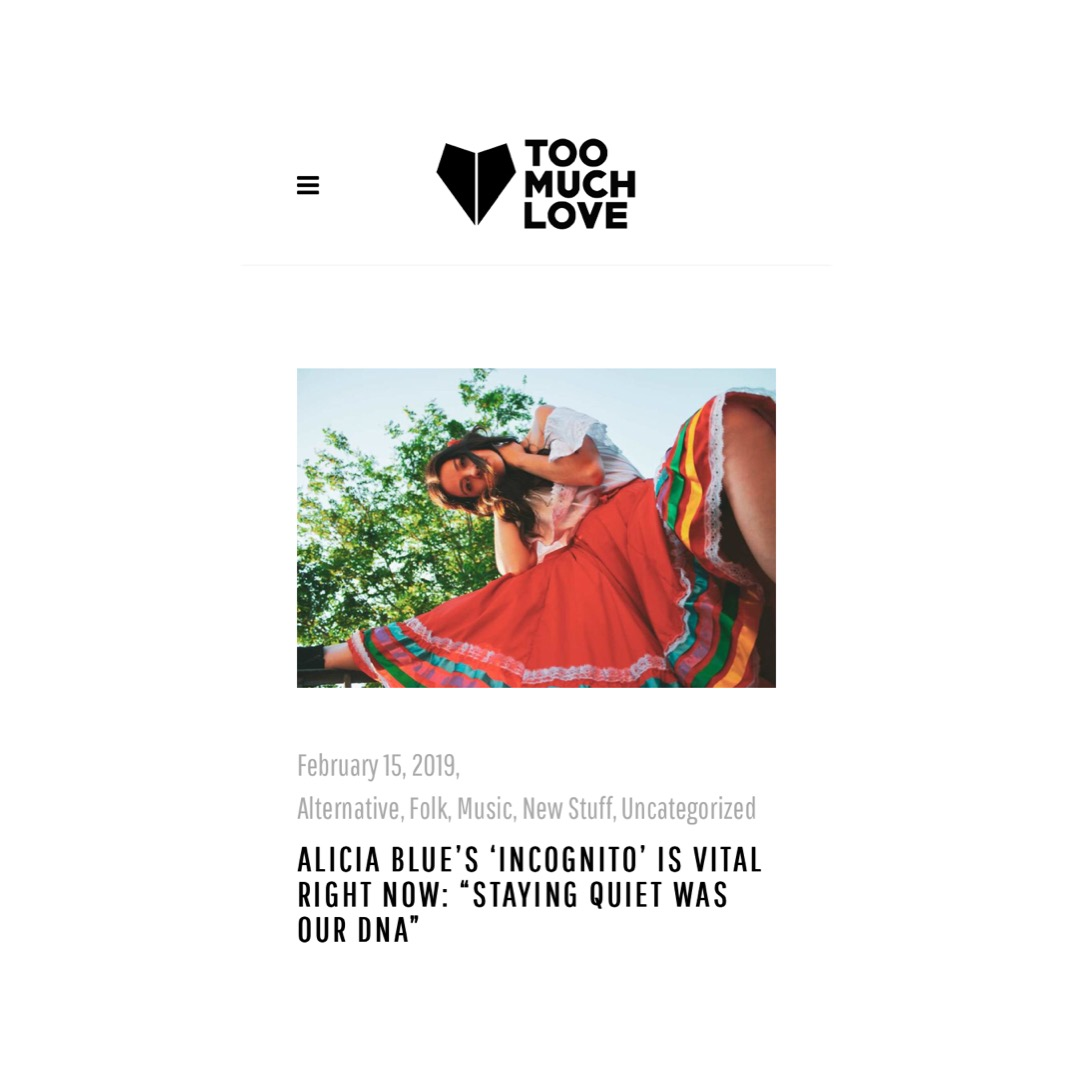 Alicia Blue Too Much Love Mag.JPG