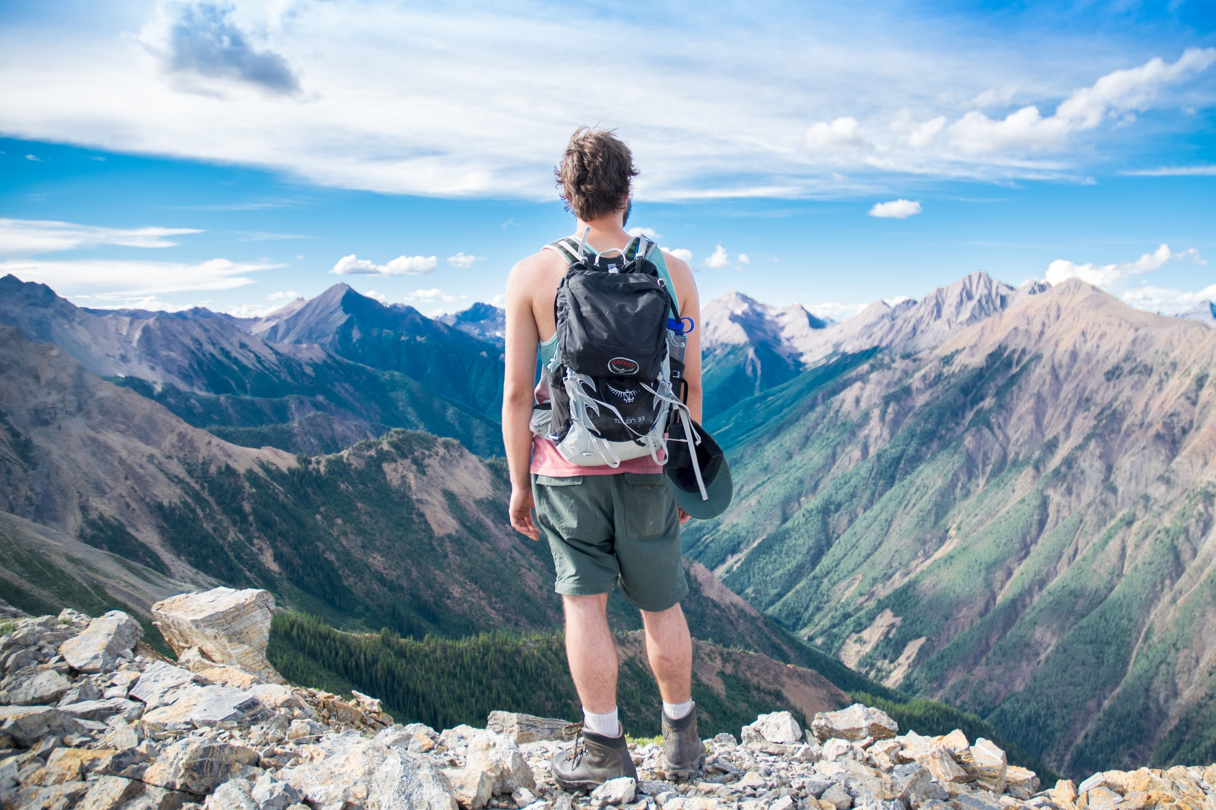 Does that mountain look steep to you? It depends on how heavy your backpack feels.