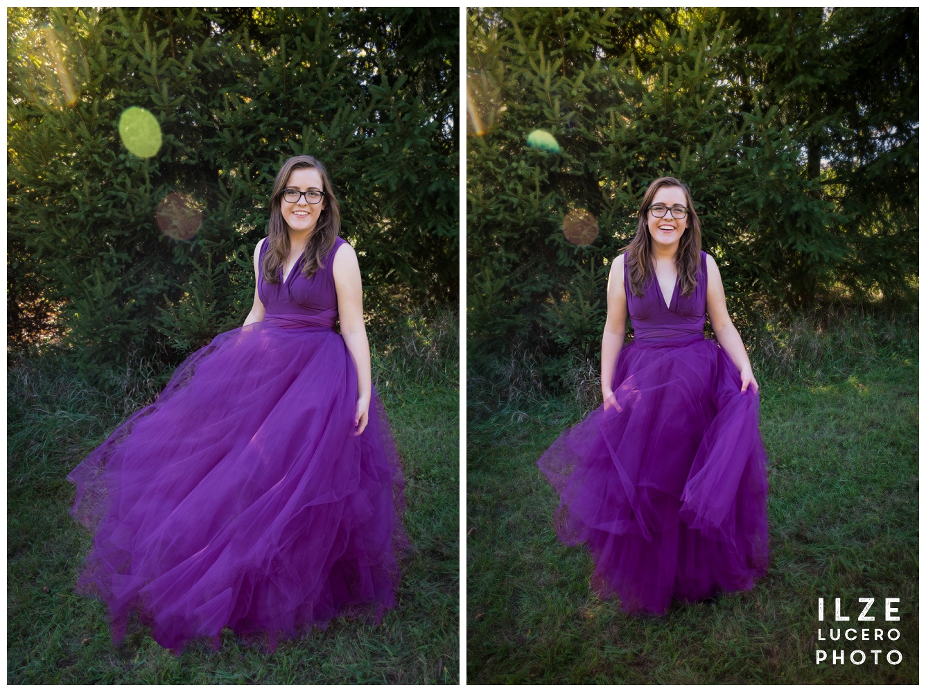 Dancing with a tulle skirt photo shoot
