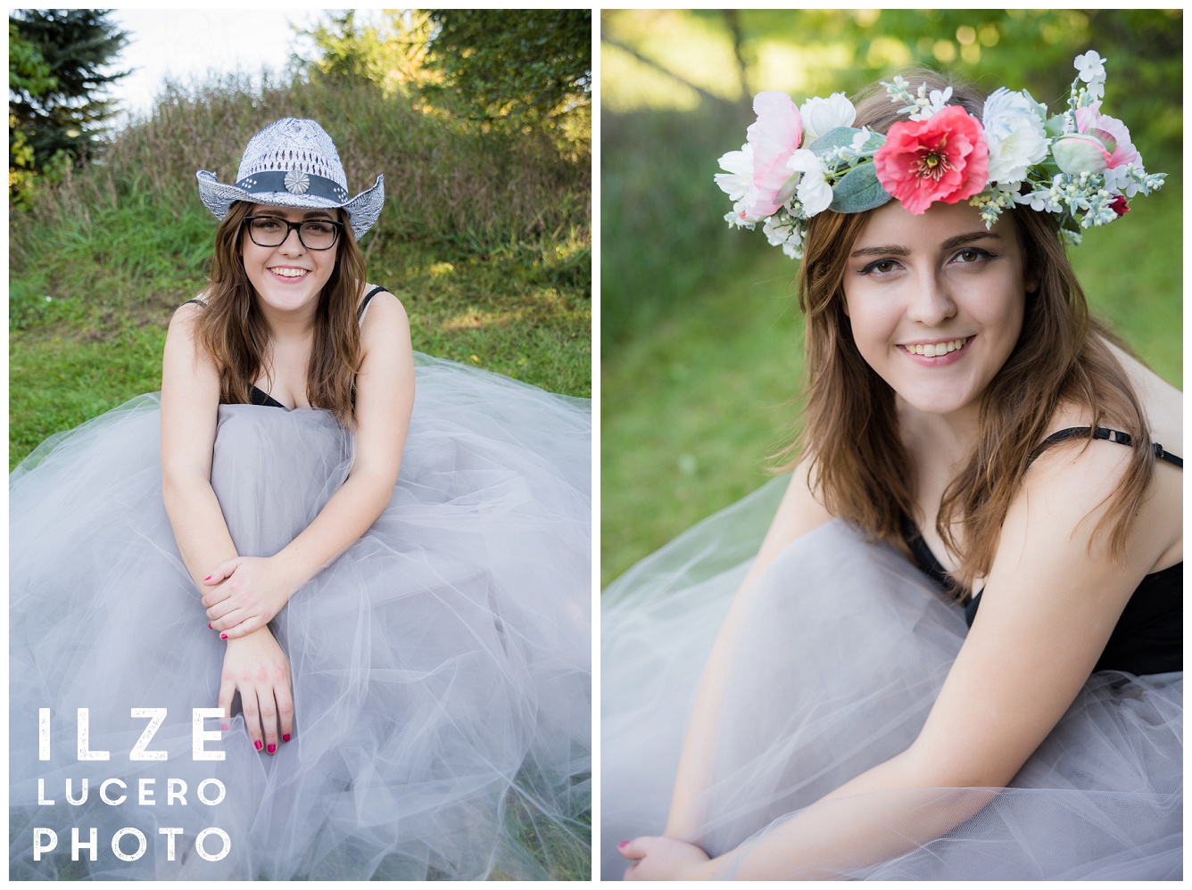 Inspirational flower crown and tulle skirt photo shoot