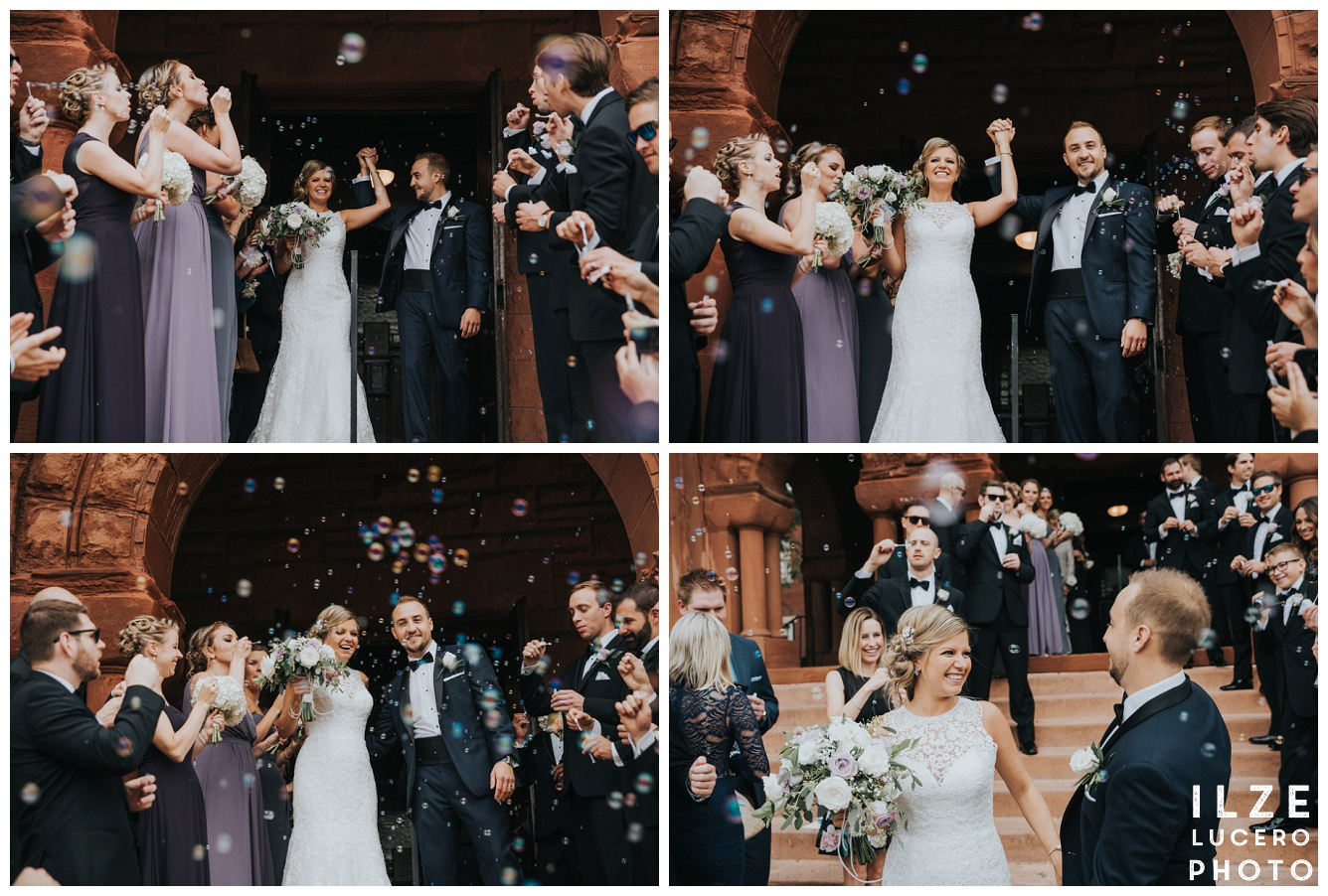 Bubble exit wedding inspiration