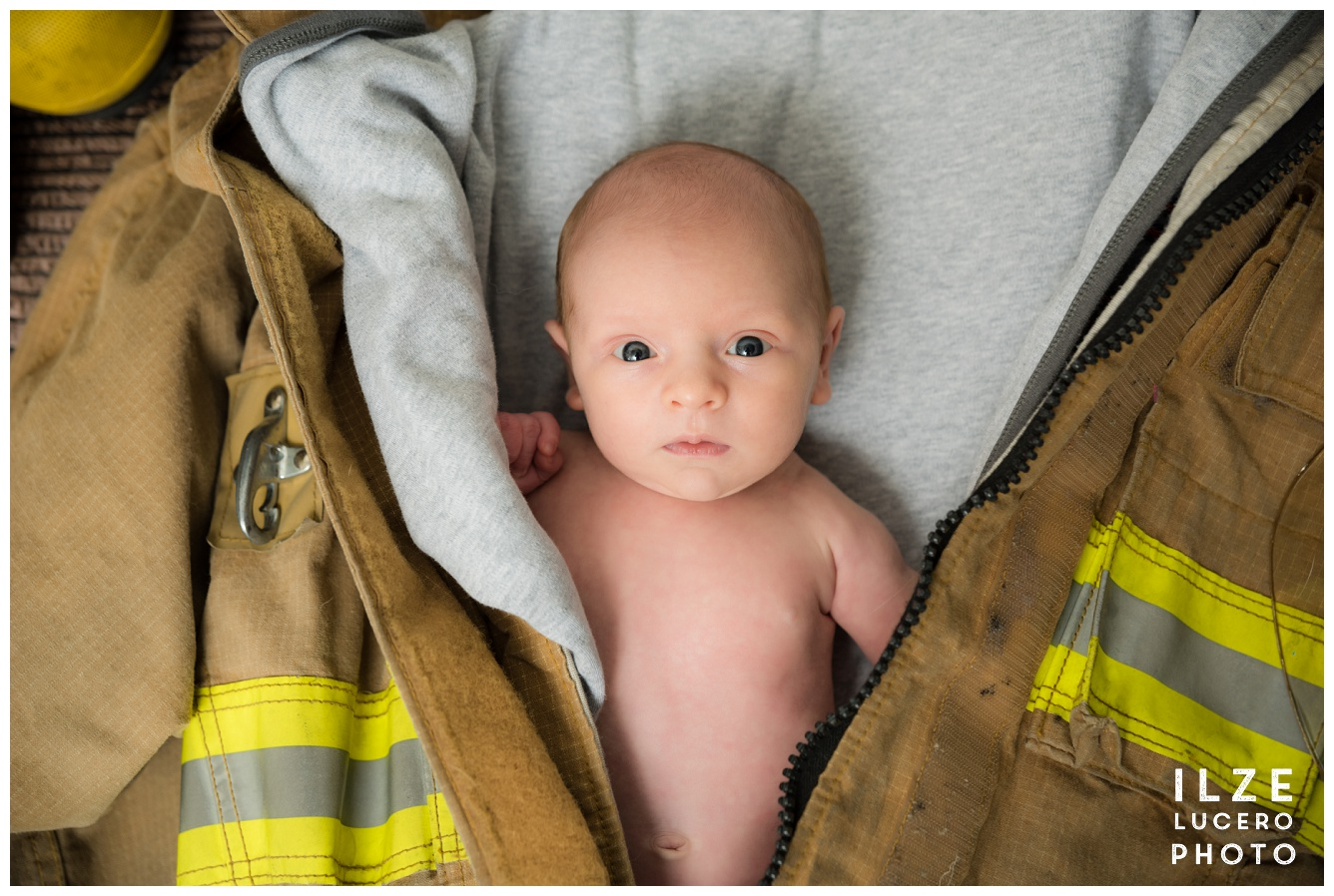 Firefighter baby photo shoot Clarkton