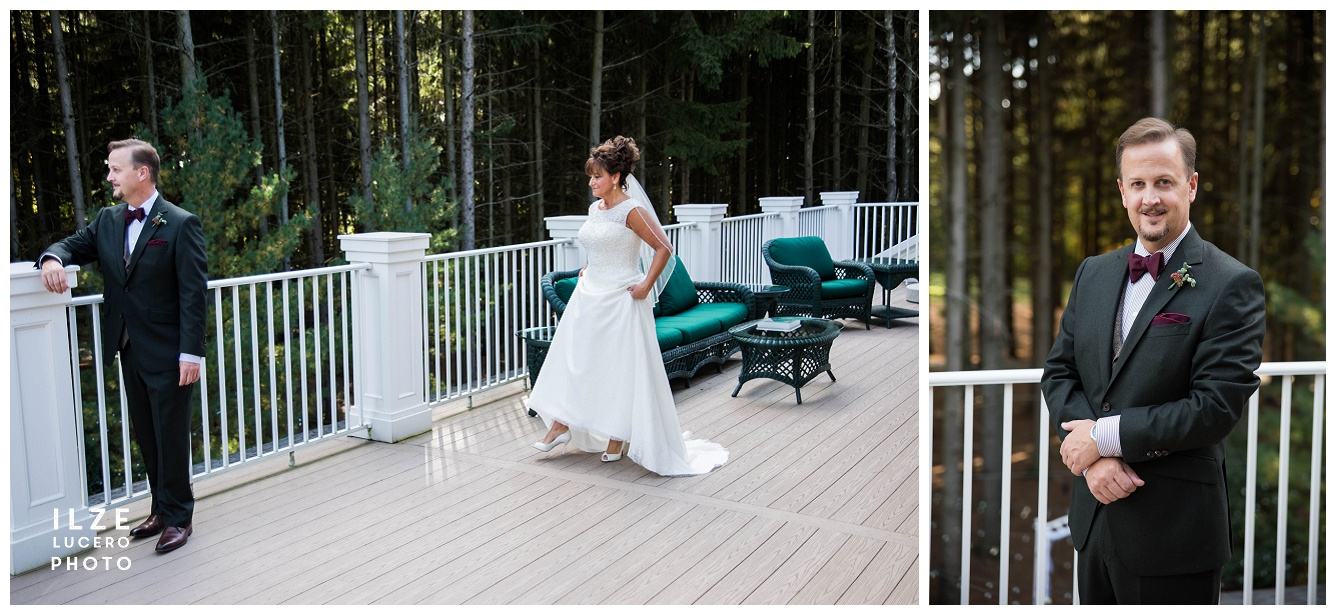 The first Look at the Shepards Hallow golf Course Wedding