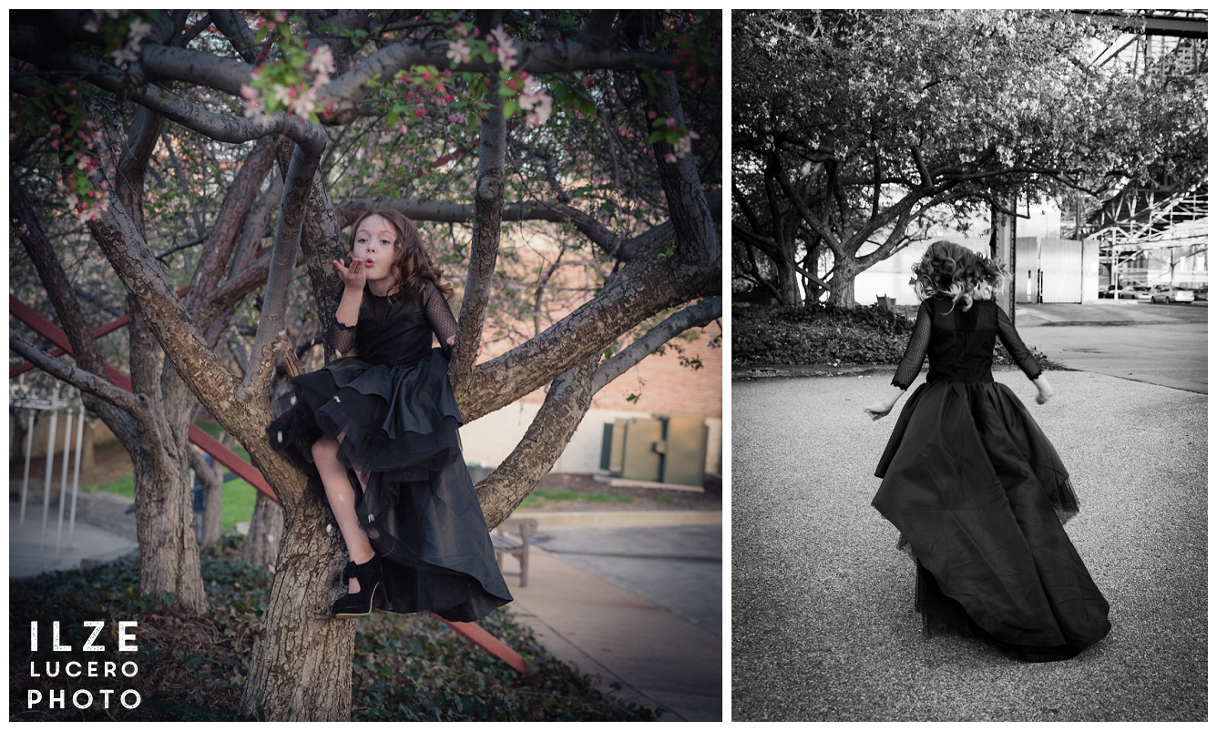 Fun with a black dress