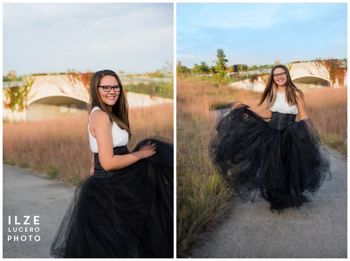 Tulle Skirt Senior Photo Shoot