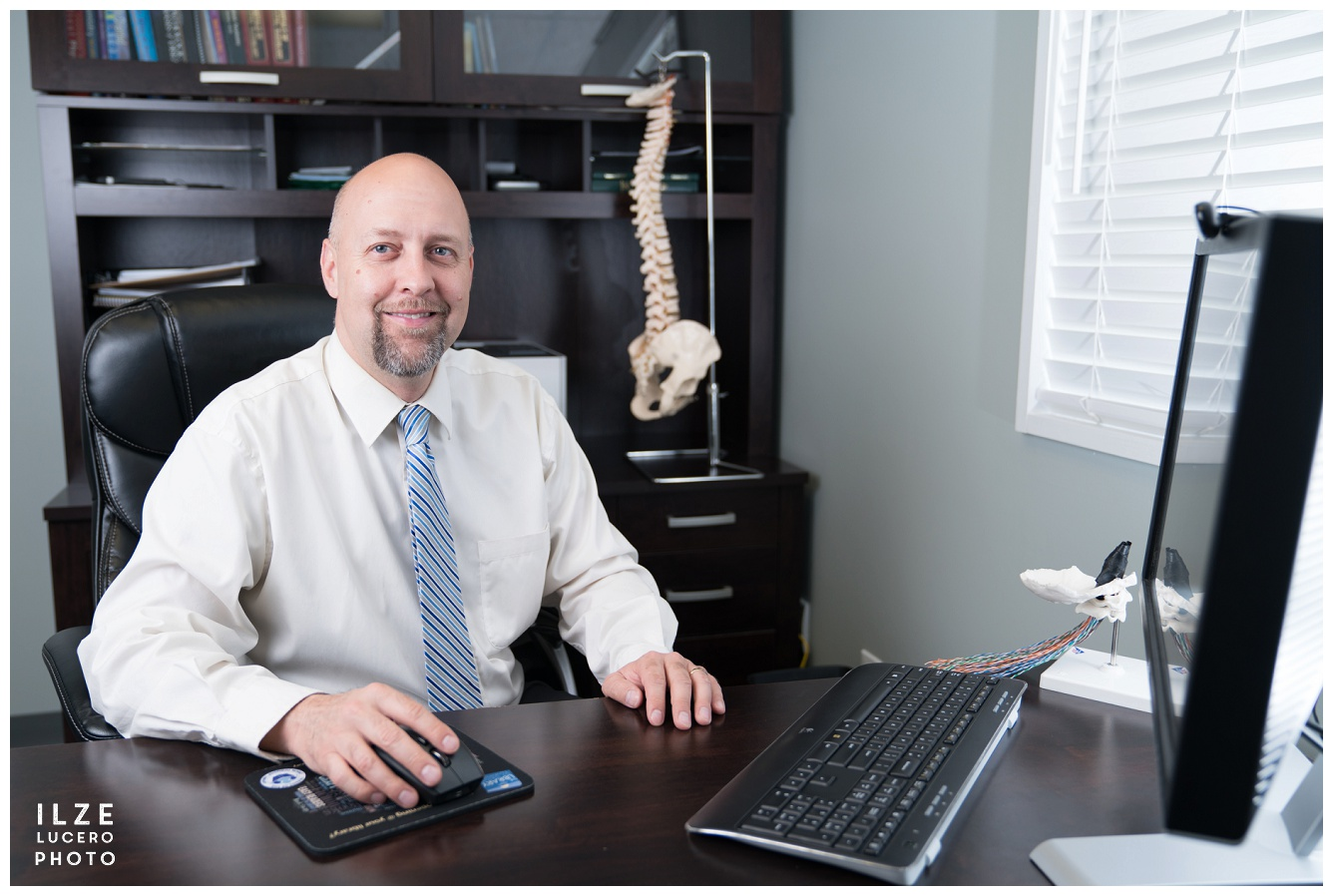 Business branding photos - chiropractor