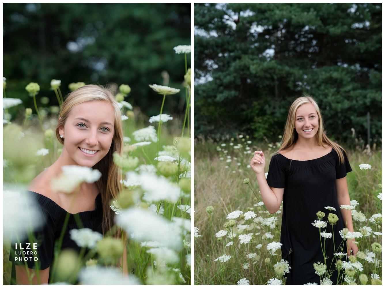 Senior Photos Brandon Township Flower Field