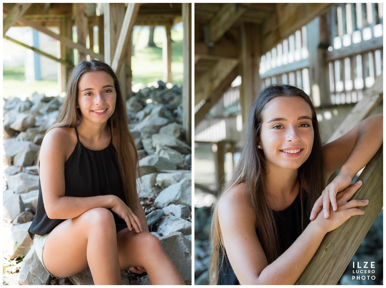 Senior Photo Session  Rocks and Creek