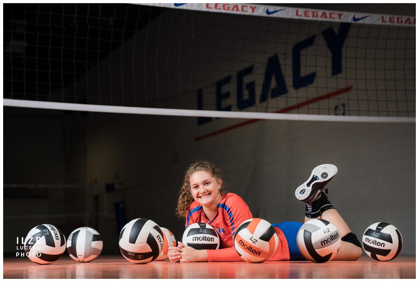 Senior photo shoot volleyball Inspiration