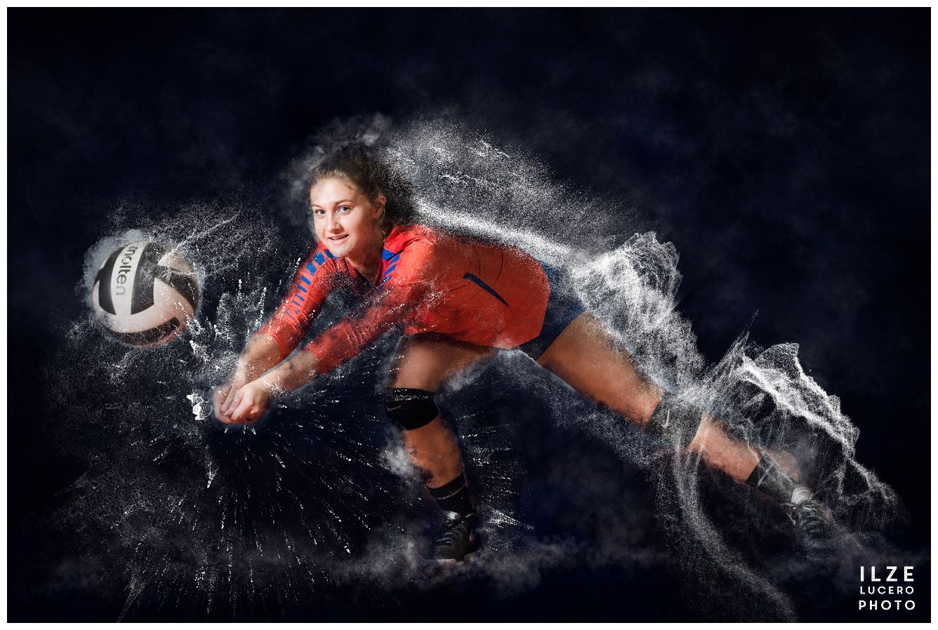 Water splashes -volleyball senior photographer