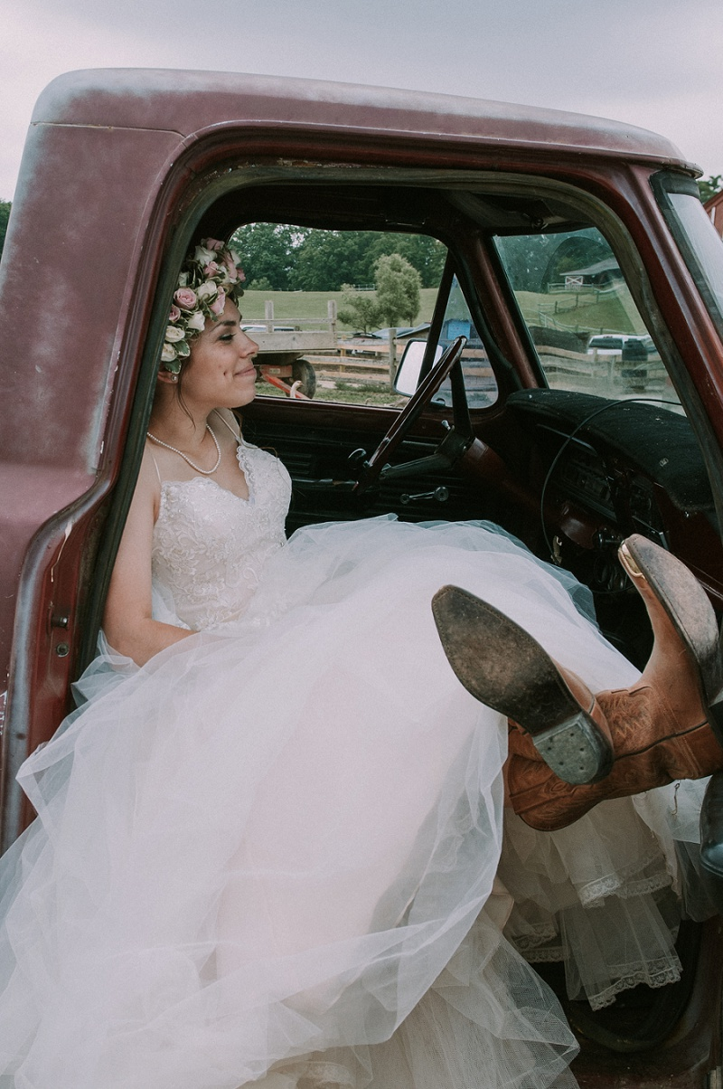 Barn Wedding - cowboy boots