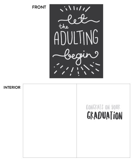 Let the adulting begin greeting card at Target