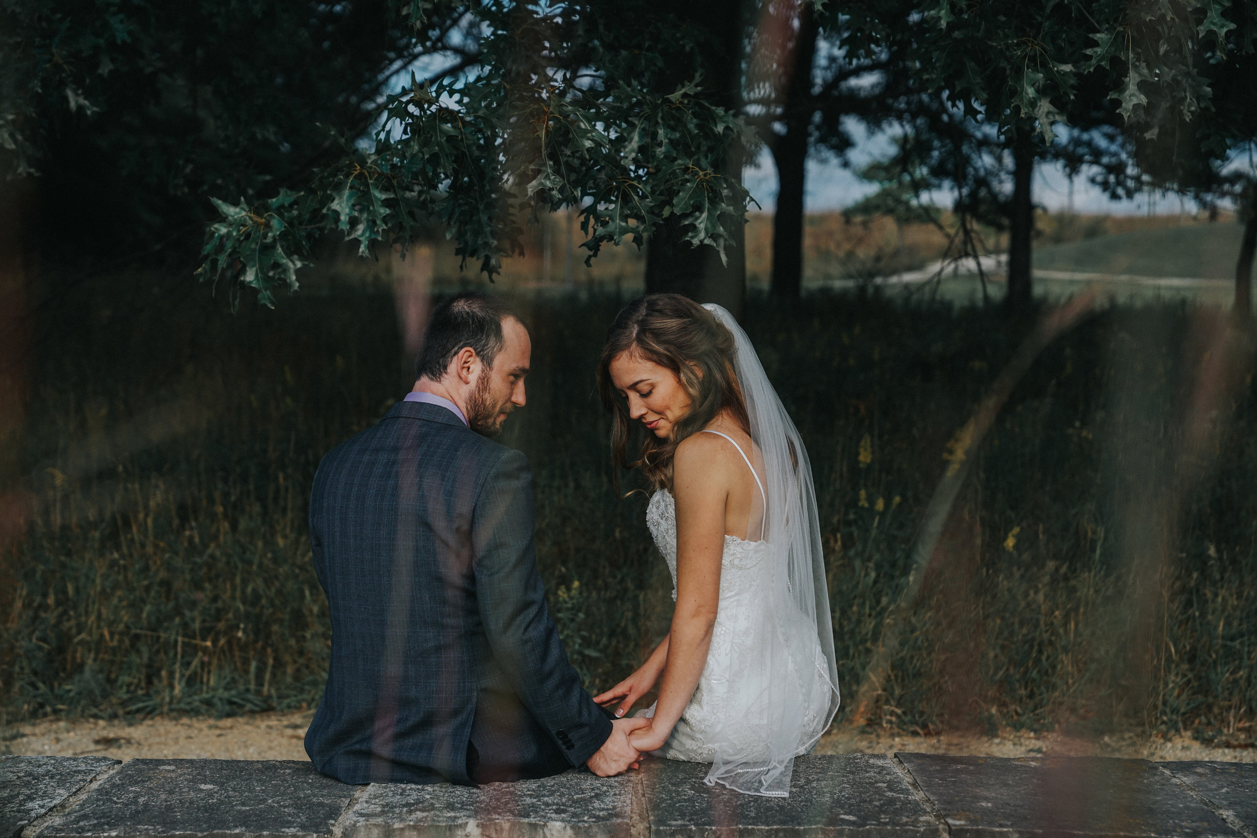 Intimate wedding at Indian Springs Metropark
