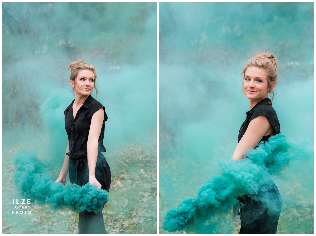 Green Smoke Photo Shoot Michigan Photographer