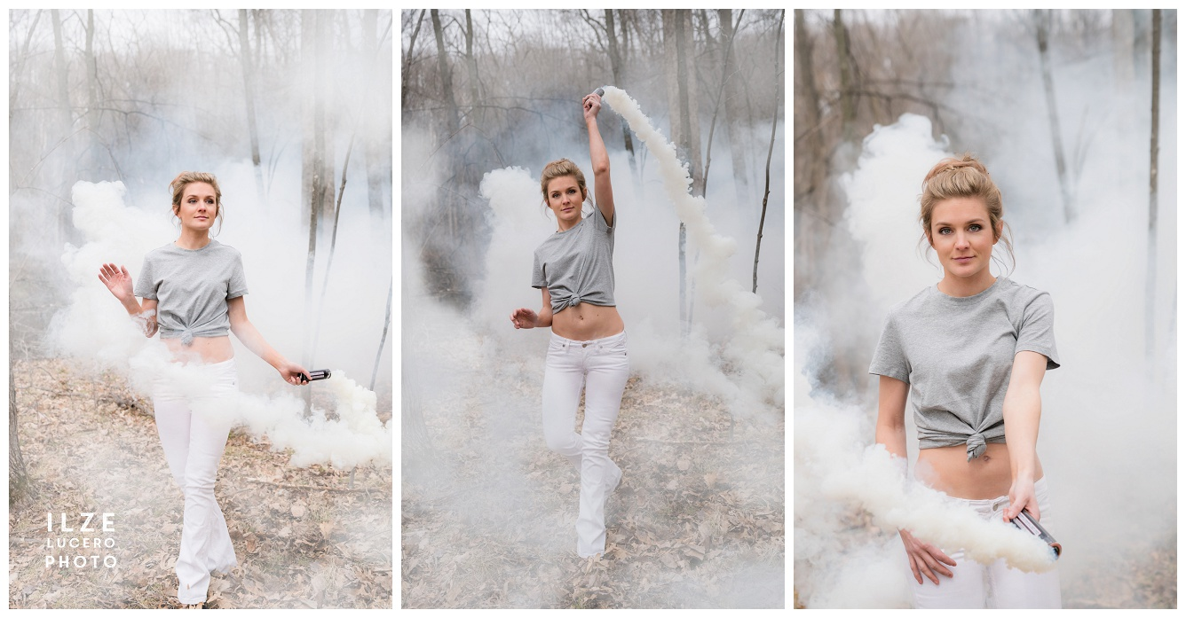 White Smoke Photo Shoot -  Detroit Metro Photographer