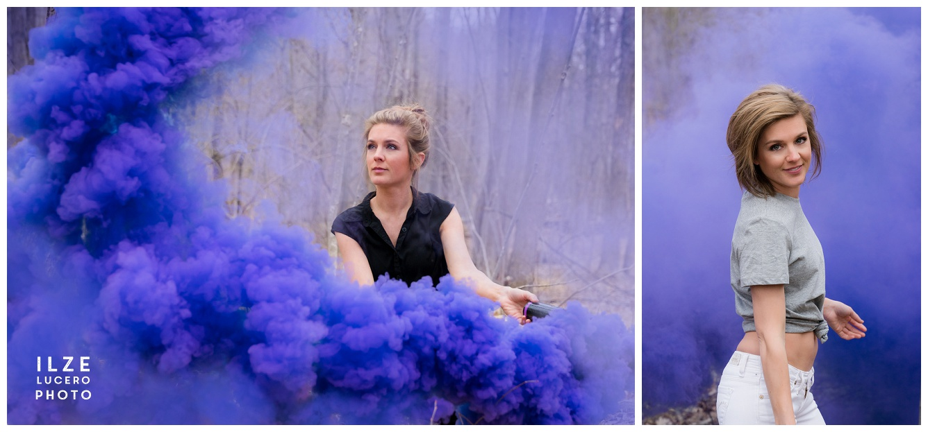 Purple Smoke Photo Shoot
