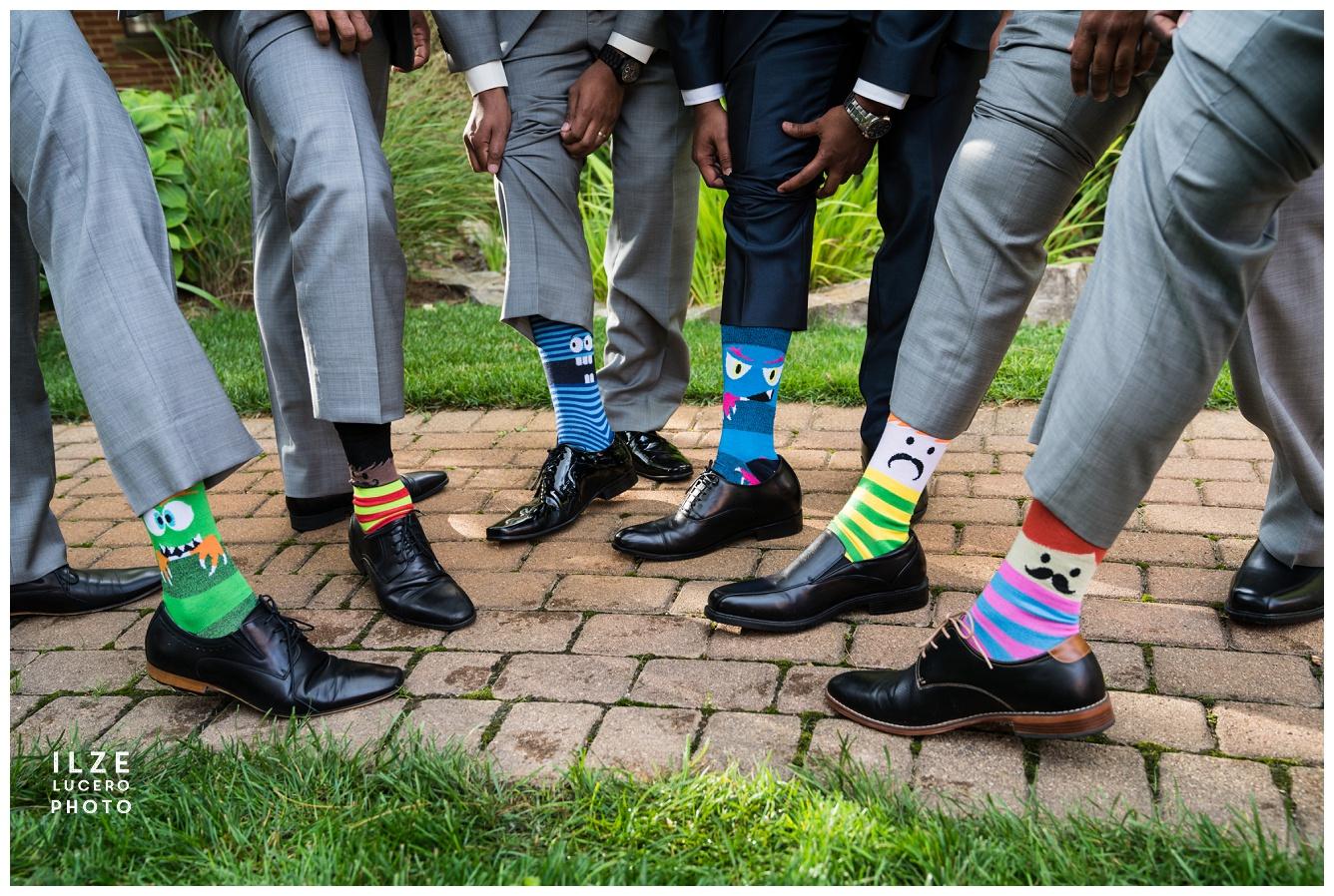 Wedding funny socks