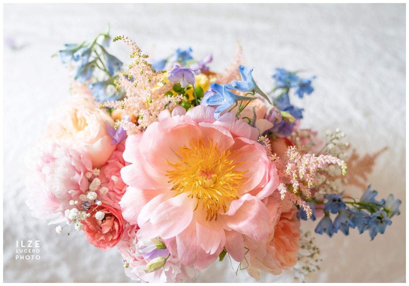 Cherry Creek Golf Club Wedding Peony Flower Bouquet