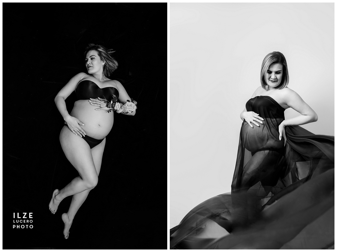 Flowing FabricMaternity Pregnancy Photo Inspiration