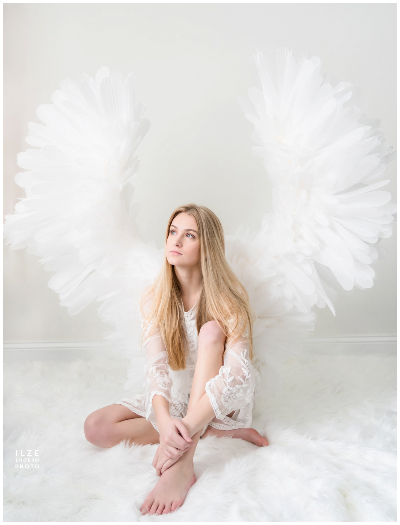 DIY Angel Wings Photo Prop from foam
