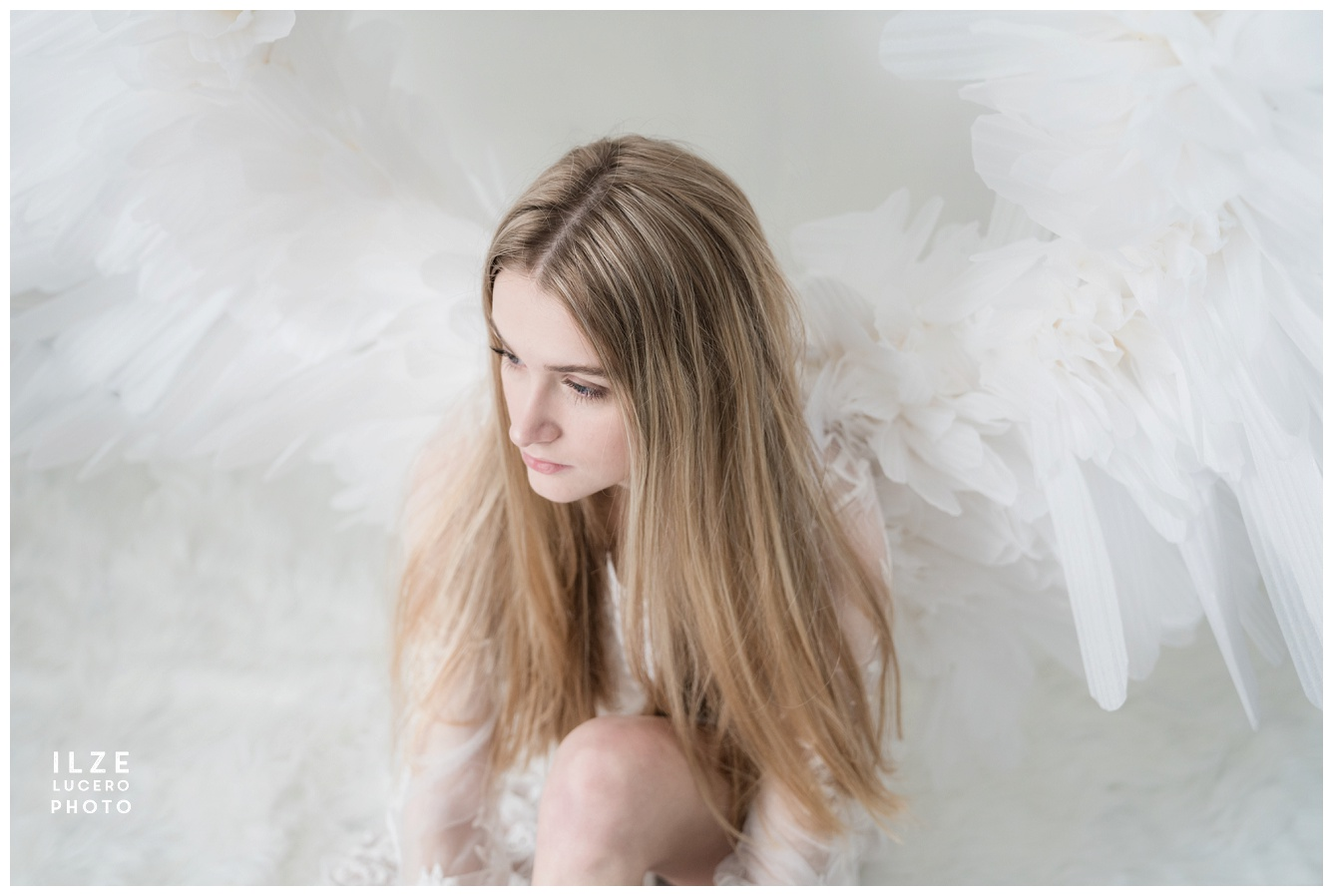 Large Angel wing photo shoot